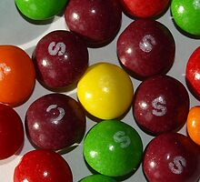 Couloured sweets by Tony Worrall