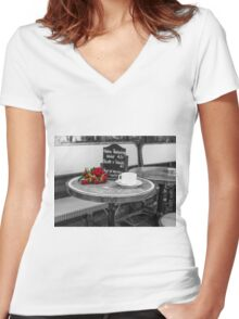 Waiting for Love Women's Fitted V-Neck T-Shirt