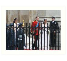 PRINCE WILLIAM AND CATHERINE MIDDLETON  Art Print