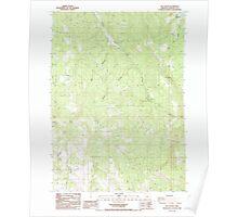 USGS Topo Map Oregon Rio Canyon 281273 1988 24000 Poster