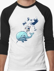 Whales are Furious! Men's Baseball ¾ T-Shirt