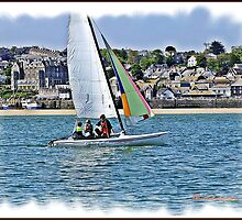 """"""" Having fun while learning to sail"""" by Malcolm Chant"""