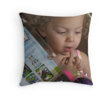 The Easter Basket Throw Pillow