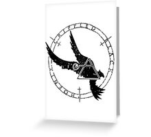 Crippled Black Phoenix 2015 A.D. (Black V.1) Greeting Card