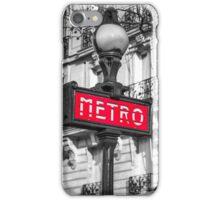 Retro metro station sign iPhone Case/Skin
