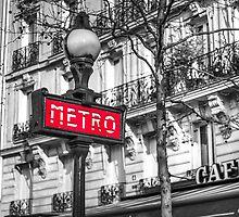 Retro metro station sign by Assaf Frank