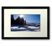 Snowscape II Framed Print