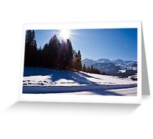 Snowscape II Greeting Card