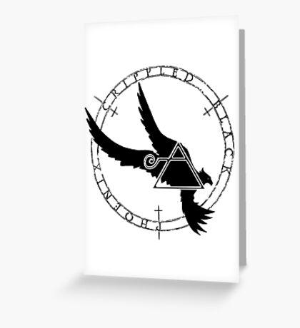 Crippled Black Phoenix 2015 A.D. (Black V.2) Greeting Card
