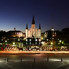 Jackson Square Night by Jay Tredanari