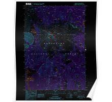 USGS Topo Map Oregon Broken Top 279146 1988 24000 Inverted Poster