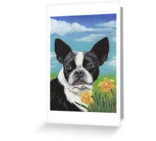 Lady in the Daffodils Greeting Card