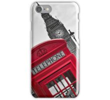 Telephone Booth in London iPhone Case/Skin