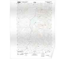 USGS Topo Map Oregon Cottage Grove Lake 20110902 TM Poster
