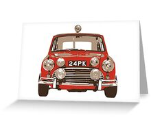 Classic Mini Rally Greeting Card