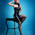 Leather Pin-up Girl  by Laura Balc