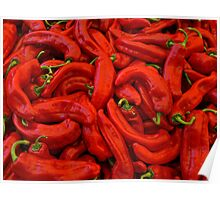 Sweet Red Peppers Poster
