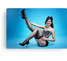 """Attitude"" Pin up Girl  Canvas Print"