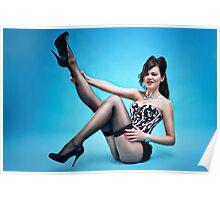 """Attitude"" Pin up Girl  Poster"