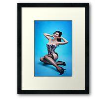Retro Pin up Girl  Framed Print