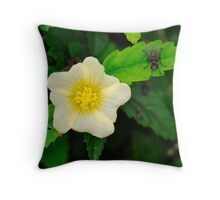 Flower and the Fly Throw Pillow