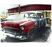 Old 55 Chevy Poster