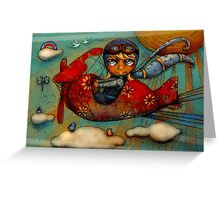 Little Red Plane Greeting Card