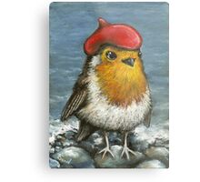 Master robin at the seashore Metal Print