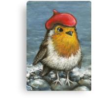 Master robin at the seashore Canvas Print