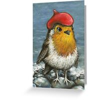Master robin at the seashore Greeting Card