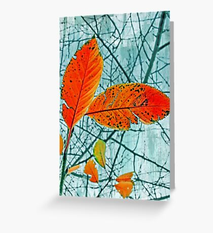 Lace of Autumn Abstract Greeting Card