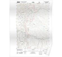 USGS Topo Map Oregon Blue Canyon 20110817 TM Poster