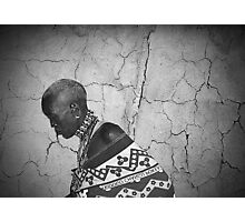 Maasai grandmother-Kenya Photographic Print