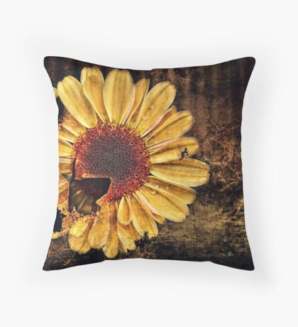 Floral Decay # 2 Throw Pillow