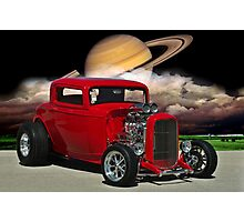 """1932 Ford """"Red Hot"""" Hot Rod Photographic Print"""