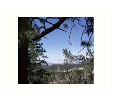 Distant View from the Road to Cripple Creek Art Print