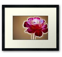 Rose Crystal: Fractalius Framed Print