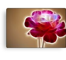 Rose Crystal: Fractalius Canvas Print
