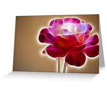 Rose Crystal: Fractalius Greeting Card