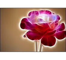 Rose Crystal: Fractalius Photographic Print