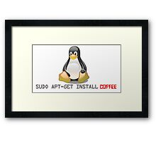 Linux - Get Install Coffee Framed Print