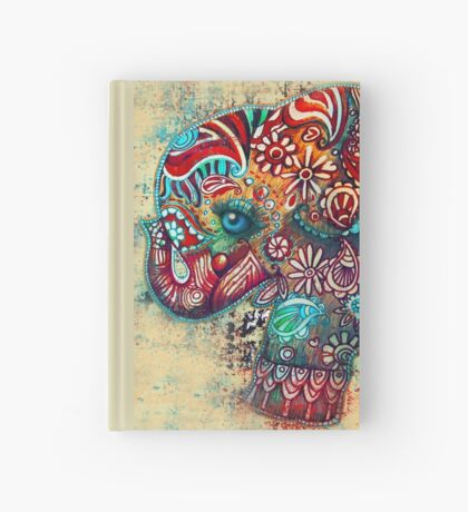 Vintage Elephant Hardcover Journal