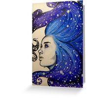 goddess of stars Greeting Card