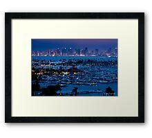 San Diego Skyline w/ Marina Framed Print