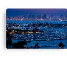 San Diego Skyline w/ Marina Canvas Print