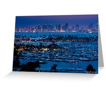 San Diego Skyline w/ Marina Greeting Card