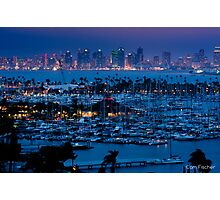 San Diego Skyline w/ Marina Photographic Print