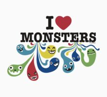 I Heart Monsters Kids Tee
