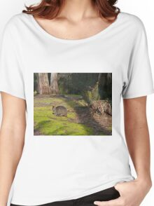 Wallaby, Leven Canyon Regional Reserve, Tasmania, Australia Women's Relaxed Fit T-Shirt
