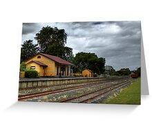 No Trains To-Day Greeting Card